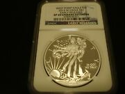 Ngc 2013 W Ms 69 Er American Silver Eagle - Enhanced Finish - Mintage - 235,689.