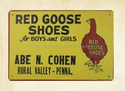 Picture Plaques Red Goose Shoes Metal Tin Sign