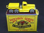 Matchbox Lesney No.15a Diamond T Prime Mover In Type And039b1and039 Box Very Rare Yellow