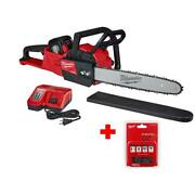 Cordless Chainsaw Kit 18-volt Brushless 16 Inch Bar And Chain With Extra Chain
