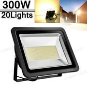 20x 300w Led Flood Light Warm White Superbright Waterproof Outdoor Security Work