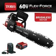 Cordless Chainsaw Kit 60-volt With 16 Inch Bar And Chain Electric Trigger Start