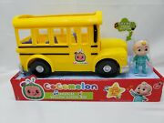 Cocomelon Musical Yellow School Bus Wheels On The Bus Jj Figure Jazwares Toys