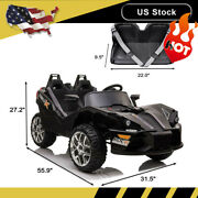 2 Seats Kids Electric Cars Ride On Car Racing Remote Control Led Lamp Music 12v