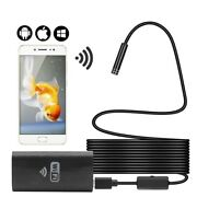 8mm Wifi Endoscope Camera Mini Waterproof Hard Cable Inspection With 8led Light
