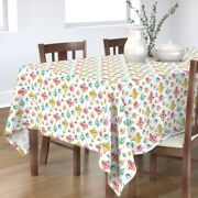 Tablecloth Pink Blue Bright Retro Holiday Christmas Christmas Cotton Sateen