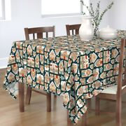 Tablecloth Christmas Gingerbread Houses Cookies Holiday Folk Cotton Sateen