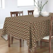 Tablecloth Gingerbread Houses Cookies Whimsical Holiday Baking Cotton Sateen