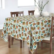Tablecloth Gingerbread Houses Holiday Winter Candy Cane Baking Cotton Sateen