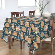 Tablecloth Christmas Gingerbread House Holiday Decorating Holiday Cotton Sateen