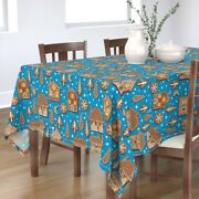 Tablecloth Gingerbread Cookies Holiday Baking Kitchen Christmas Cotton Sateen