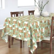 Tablecloth Gingerbread Houses Gingerbread Man Cookies Holiday Cotton Sateen
