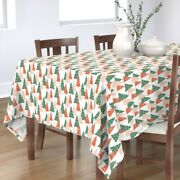 Tablecloth Pink Forest Trees Holiday Christmas Festive Cotton Sateen