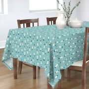 Tablecloth Snow Holiday Christmas Snowman Hat Fedora Cotton Sateen