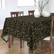 Tablecloth Flower Red Floral Holiday Christmas Rose White Flowers Cotton Sateen