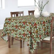Tablecloth Stars Floral Deer Trees Winter Snow Holiday Cotton Sateen