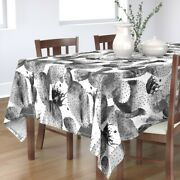 Tablecloth Paddle Cactus Watercolor Cacti Black And White Abstract Cotton Sateen