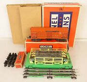 Lionel 3656 Postwar Operating Cattle Car With Corral-vg+ In Original Boxes