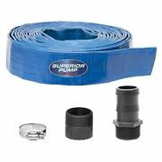 Superior Pump 99621 Lay-flat Discharge Hose Kit 1-1/2-inch By 25-foot 4-piece