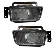 Rare Black Smoked Foglights With Lens For Bmw E34 1987-1996 All Models + M5