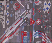 Hand-knotted Wool And Silk Moroccan Rug 8and039 3 X 10and039 0 - Q9287