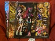 Monster High Boo York 3 Pack Set Out Of Tombers Catty Noir Clawdeen Draculaura