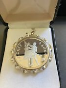1993 Russia 1ozt. Silver Proof Ballerina In Sterling Silver Bezel With 5mm Bale