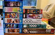 Lot Of 11 Jigsaw Puzzles 500 And1000 Pieces Marvel Game Of Thrones Space And More