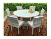 Tk Classics Fairmont 7-piece Outdoor Dining Set - Table And 6 Chairs - New