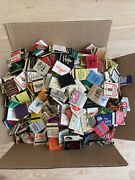 Lot Of 1000/ 11 Lbs Vintage Matchbooks Match Box Advertising Hotels Grocery Drug