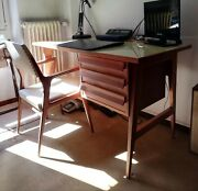 Vintage Italian Mid Century Gio Ponti For Schirolli Desk And Chair Italy 1950s