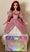 """Disney Limited Edition 2019 D23 Ariel 17"""" Doll Mint And Out Of Box W/ Coa, No Box"""
