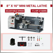 Mini Metal Lathe W 1100w Brushless Motor For Woodworking And More 8x16 2250rpm