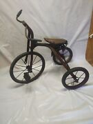 Antique Tricycle Velocipede 12 Front Wheel 8 Rear Wheels