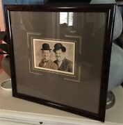 Stan Laurel And Oliver Hardy 1930 Autograph - Custom Framed Hollywood Posters