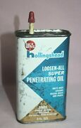 Vintage Litho Whiz Loosen-all Handy Oiler Tin / Can Hollingshead Corp.can. And Us
