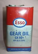 Vintage Esso Gear Oil Gx 90 1 Gallon Tin / Can Imperial Oil Limited Canada