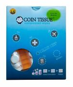 Coin Tissue Compressed Wipes Box Of 500 - Biodegradable, Use As Towels, Tp, Etc