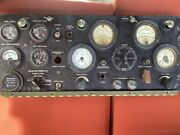 Vintage Military Generator Control Panel Antique Switch Meter Electrical Display