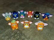 Vintage 1998 Furby Tiger Electronics Mcdonalds Happy Meal Plastic Toys Lot Of 9