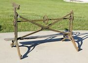 Keuffel And Esser Co Cast Iron Industrial Drafting Drawing Table For Parts As Is
