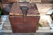 Rare Wwi Wooden Ambulance Medical First Aid Supply Box Usa 12andrdquo