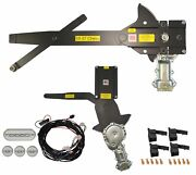 1955-1957 Chevy Front Door And Rear Power Window Kit With Ftfg Switches For Door