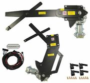 1955-1957 4dr Sedan Front And Rear Power Window Kit With Ftfg Switches For Console