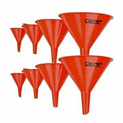 Dedc Gas Funnels Plastic Funnel 2 Set Of 8 For Car Automotive Mini Small Large R