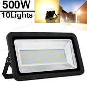10x 500w Led Flood Light Warm White Superbright Waterproof Outdoor Security Work