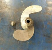 1940and039s Vintage Evinrude Elto Ace 1.8 Hp 4351 Outboard Propeller And Prop Nut