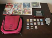 Crimson Red 2ds With Charger, Carrying Case And 20 Games. 9 3ds And 11 Ds