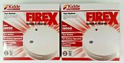 New- Lot Of 2 Kidde Firex Smoke Alarms, Easy Install With Batteries I9050