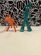 Vintage Jesco 6 Gumby And 4 Pokey Posable Bendable Figures Rare Collectible